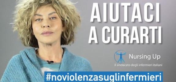 Eva Grimaldi dalla parte degli infermieri in un video contro le aggressioni per la campagna Nursing Up #NoViolenzasuglinfermieri
