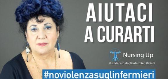 Marisa Laurito testimonial della campagna Nursing Up contro le aggressioni al personale sanitario in pericoloso aumento: online un video per dire #NoViolenzasuglinfermieri