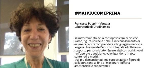 Francesca Puppin di Venezia invia un lungo pensiero per #MAIPIUCOMEPRIMA