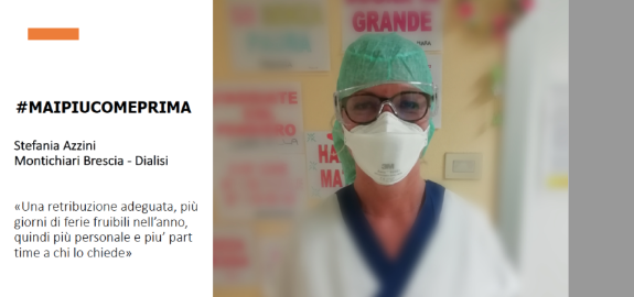 #MAIPIUCOMEPRIMA Stefania Azzini -Montichiari Brescia -Dialisi