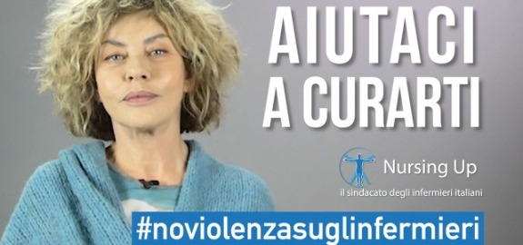 Eva Grimaldi dalla parte degli infermieri in un video della campagna Nursing Up #NoViolenzasuglinfermieri