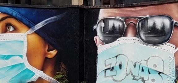 Milano, a Quarto Oggiaro murale per gli operatori sanitari del Sacco e i parenti delle vittime del Covid19