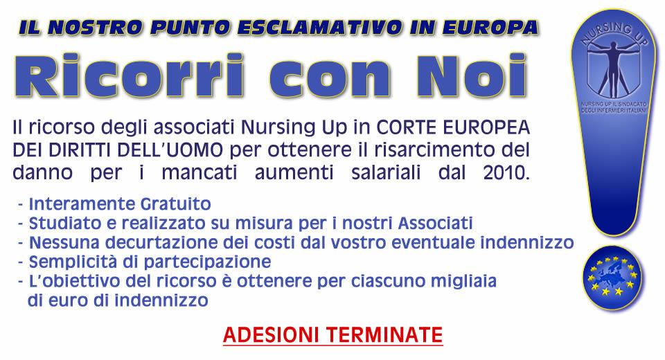 Il ricorso in Corte Europea dei Diritti dell'Uomo di Nursing Up e' ancora al vaglio dei Giudici.
