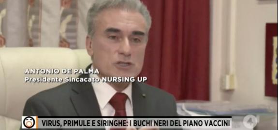 Il Presidente del Nursing Up Antonio De Palma a