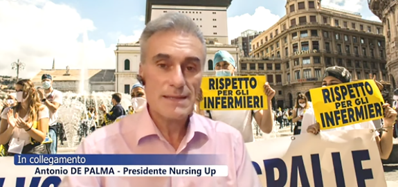 Intervento di Antonio De Palma, Presidente del Nursing Up, Sindacato Infermieri Italiani, nel corso della trasmissione